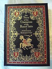 The Story of the Champions of the Round Table H.Pyle Easton Press LeatherBd Book