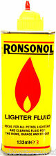 Lighter Fluid Tin Petrol Refill 133ml Ronsonal Lighter Fluid Ronson Brand Zippo