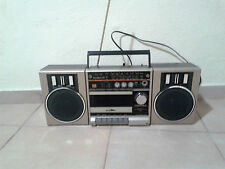 Vintage Toshiba RT SX1 Boombox AM FM Radio Cassette Recorder Detachable Speakers