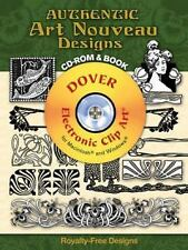 Authentic Art Nouveau Designs CD-ROM and Book Dover Electronic Clip Art