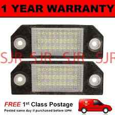 2X FOR FORD FOCUS C-MAX CMAX 2004-2010 18 WHITE LED NUMBER PLATE LIGHT LAMPS