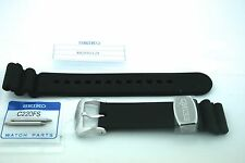 SEIKO GENUINE 22MM DIVER PREMIUM STRAP/ STAINLESS KEEPER - ORIGINAL TO SRP777
