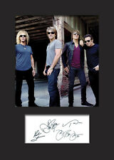 BON JOVI A5 Signed Mounted Photo Print - FREE DELIVERY