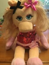 "Build A Bear Muppets MISS PIGGY Plush Puppet Stuffed Toy 18""Sesame Street Henson"