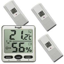 Funk Thermometer FT007  mit 3 Aussensensoren  Digital Funkthermometer