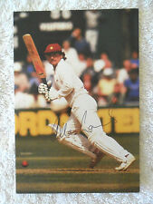 ALLAN LAMB SIGNED IN PERSON COLLECTABLE CRICKET POSTCARD COA BUY AUTHENTIC