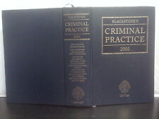 Blackstone's Criminal Practice 2003 by Murphy (13th Ed. H/B 2003)