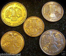 Russian Federation - Russian 5 Coin Rouble Set - 1 to 50 Rouble Coins