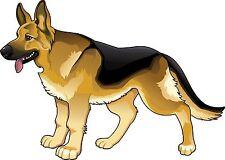 Pastore tedesco cane logo diffidare Lives Here Adesivo Decalcomania Grafica Vinile etichetta V1