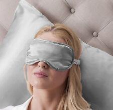 Jasmine Silk Pure Silk Filled Sleep Eye Mask Sleeping blindfold Grey