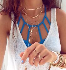 Authentic LF Turquoise cage front strappy bralette top  OS