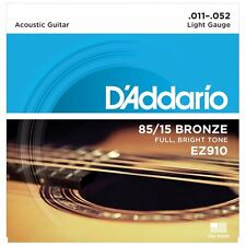 D'Addario EZ910 American Bronze Acoustic Guitar Strings - Light - 11-52