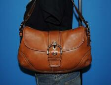COACH LEATHER Brown Soho FLAP HOBO Satchel Shoulder Tote Purse Bag #10192