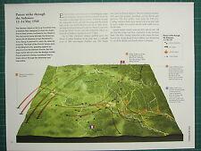 WW2 WWII MAP ~ BATTLE PLAN PANZER STRIKE ARDENNES 12-14 MAY 1940 GERMAN ATTACK