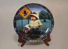 Danbury Mint Garfield Plate I GOT UP FOR THIS?
