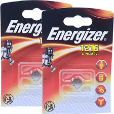 2 x Energizer 1216 CR1216 DL1216 3V Lithium Coin Cell Batteries