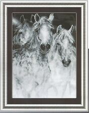 Cross Stitch Kit White Horses