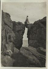 PHOTO ANCIENNE - VINTAGE SNAPSHOT - PONT DU DIABLE ROCHER ESCALADE - ROCK 1930