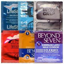 12 Small Condom Snugger Fit Sampler Pack - 6 STYLES!