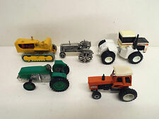 5 X TRACTORS DOZER ALL DIFFERENT MAKERS 1:43 TO 1:64 LOOSE (BS1045)