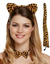Ladies Leopard Animal Hen Do Party Halloween Fancy Dress Costume Outfit Kit