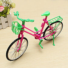 Exquisite Detachable Plastic Bike Bicycle Toy for Barbie Doll Rotatable Wheels