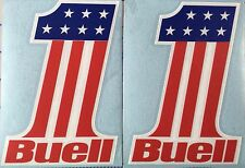 Buell Number One Vinyl Decals. 3 Color. Red White and Blue.