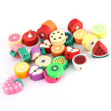 Wholesale 100PCS MIXED LOTS FIMO POLYMER CLAY FRUIT  DIY BEADS for Accesories