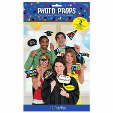 13 Graduation Photo Props Hand held signs incl 2 for you to customise Decoration