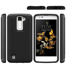 For LG K8 / Phoenix 2 K371 Case Hybrid Armor Dual Layer Protective Phone Cover
