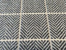 Designers Guild Herringbone Check Upholstery Fab Branette Ink 1.0 yd FWY2215/01