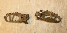 2005 KAWASAKI KX85  LEFT & RIGHT FOOTPEG SET WITH PINS AND SPRINGS
