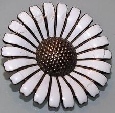 Volmer Bahner very large white enamel daisy brooch 50mm