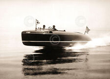 Lake Cruiser Vintage Photography Boat Black and White Racing Print Poster 8x10