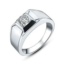 Size 8 Man's 18K Gold Filled Amazing White Sapphire Engagement Wedding Rings