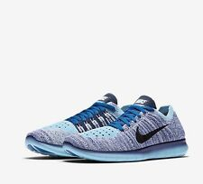 Nike Free RN Flyknit GS Youth Trainers Blue Size UK 5 EU 38 New 100% Genuine