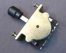 3 WAY ELECTRIC GUITAR SWITCH WITH BLACK BARREL KNOB