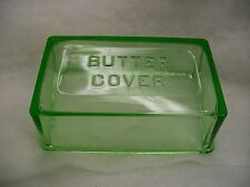 Vintage Hazel Atlas Green 1 Pound Butter Cover Excellent Condition Lid Top