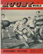 RUGBY WORLD MAG APRIL 1961 INCLUDING COMPLETE STATISTICS FOR SPRINGBOK TOUR