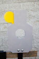 "AR500 Steel Reactive Silhouette Target Kit (21""x12"") Hostage & Critical Shot"