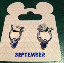 Disney Parks Mickey Mouse September Small Hoop Pair of Earrings NEW