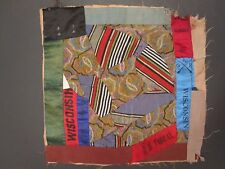OLD CIVIL WAR WI CRAZY QUILT GAR RIBBONS CAPTAIN SAM VAN SANT MN IL 9th CAVALRY