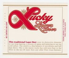 Lucky Lager Beer Label