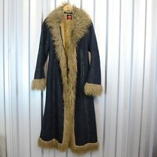 Miss Sixty Denim and Faux Fur Coat Floor length Festival  RRP £220 Vintage Retro