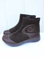 "New Women's Naot ""Oyster"" Brown leather ankle boots Shoes 37 (US 6)"