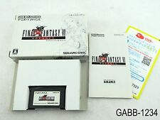 Complete Final Fantasy 6 VI Game Boy Advance Japanese Import GBA JP US Seller B