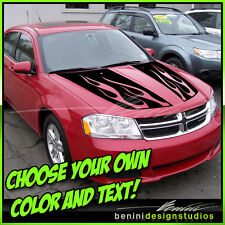 2008 2009 2010 2011 2012 2014 Dodge Avenger Hood Decal Graphics Stripes Style 3