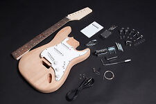 Kit DIY Guitarra eléctrica Stratocaster Caoba - Electric guitar Kit DIY Mahogany