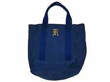 Rugby Ralph Lauren Indigo Blue Polo Monogram City Campus Beach Tote Bag