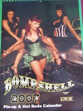 """VERY FINE-2007 """"BOMBSHELL AND INK"""" PIN UP & HOT ROD CALENDAR-w/EROTIC MODELS,etc"""